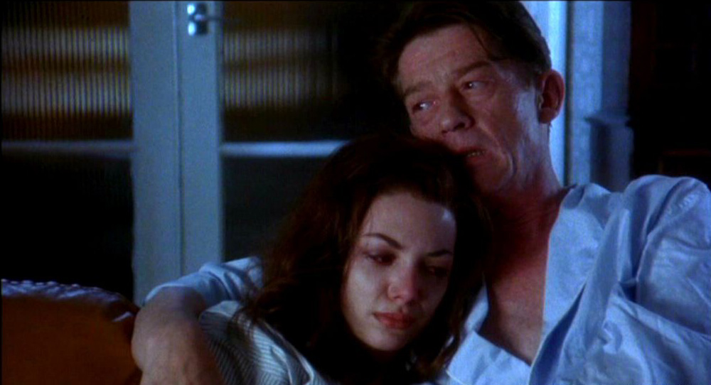 John Hurt and Joanne Whalley in Scandal